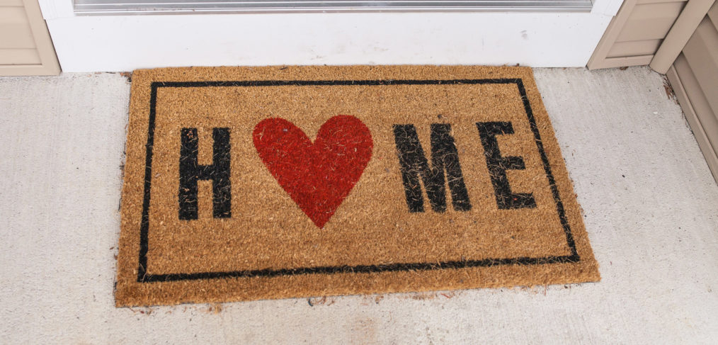 Welcome Mat with Heart